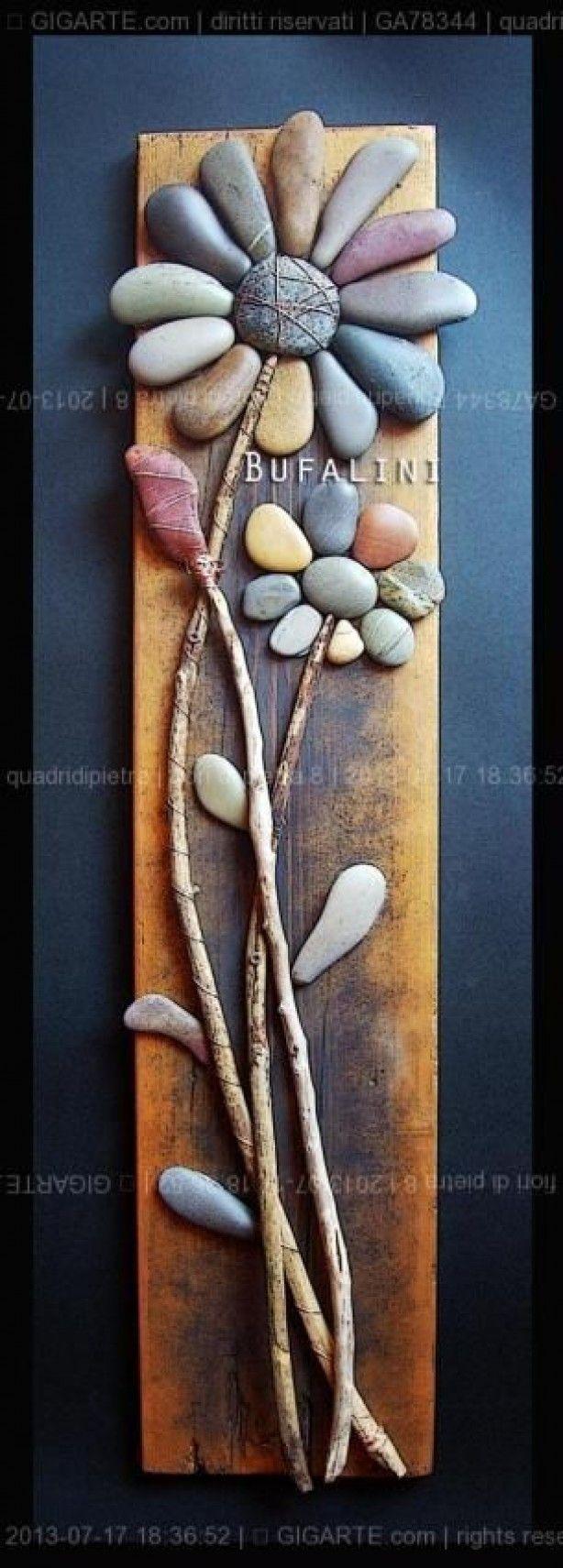 eindelijk een goed idee voor al die stenen en stokken die de kinderen altijd van het strand mee nemen