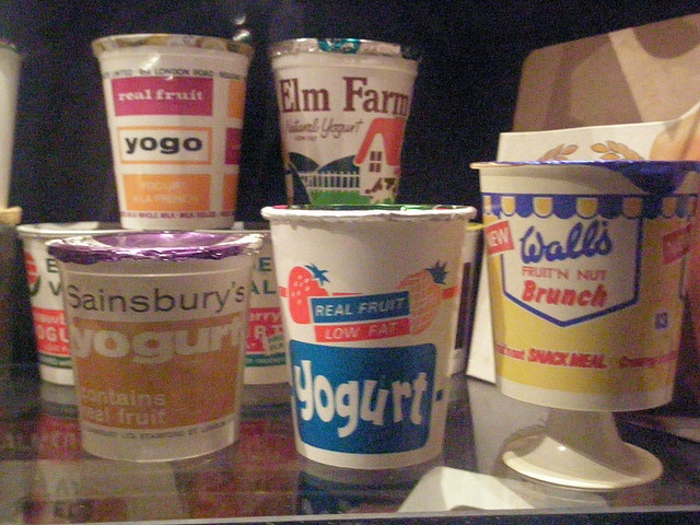 Yoghurt pots by I like, via Flickr