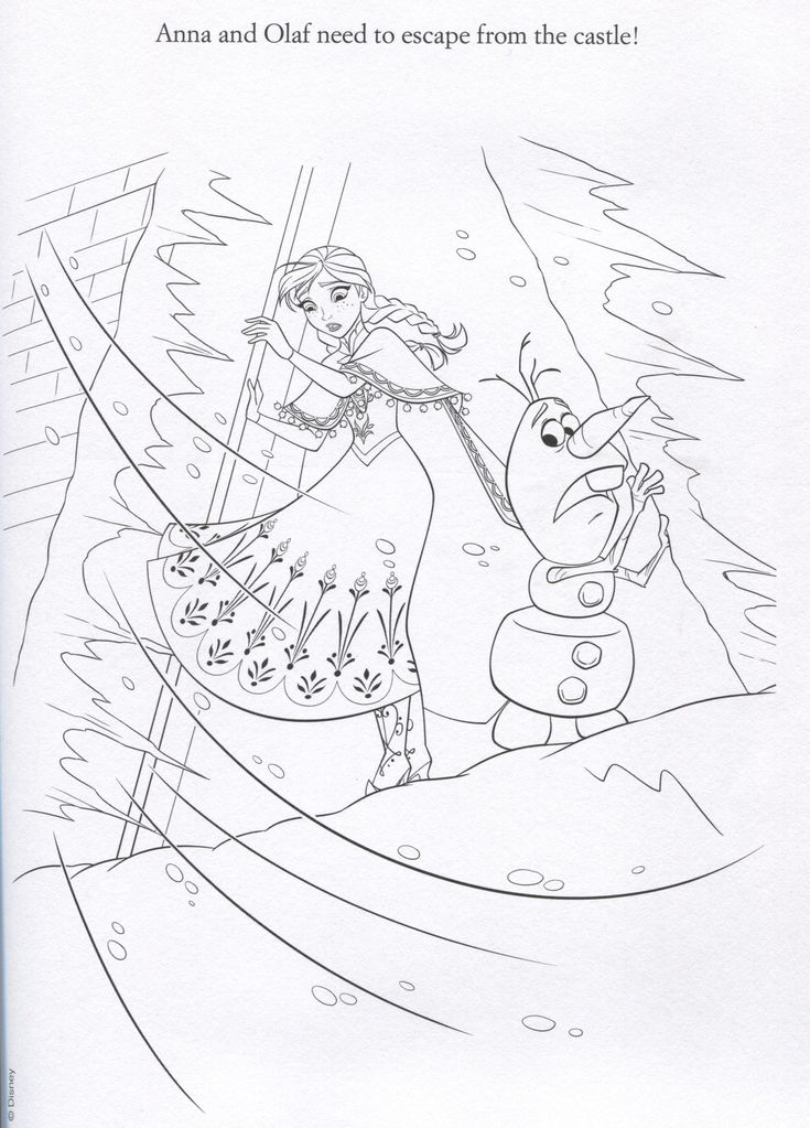 frozen coloring number pages - photo#42