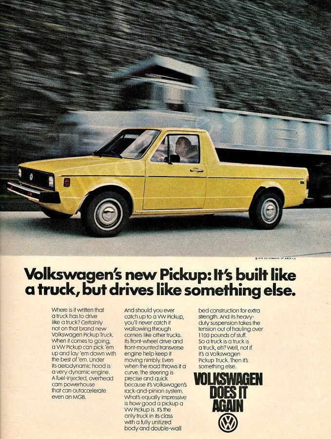Functional and affordable. Would you drive a VW Pickup if they were still made?