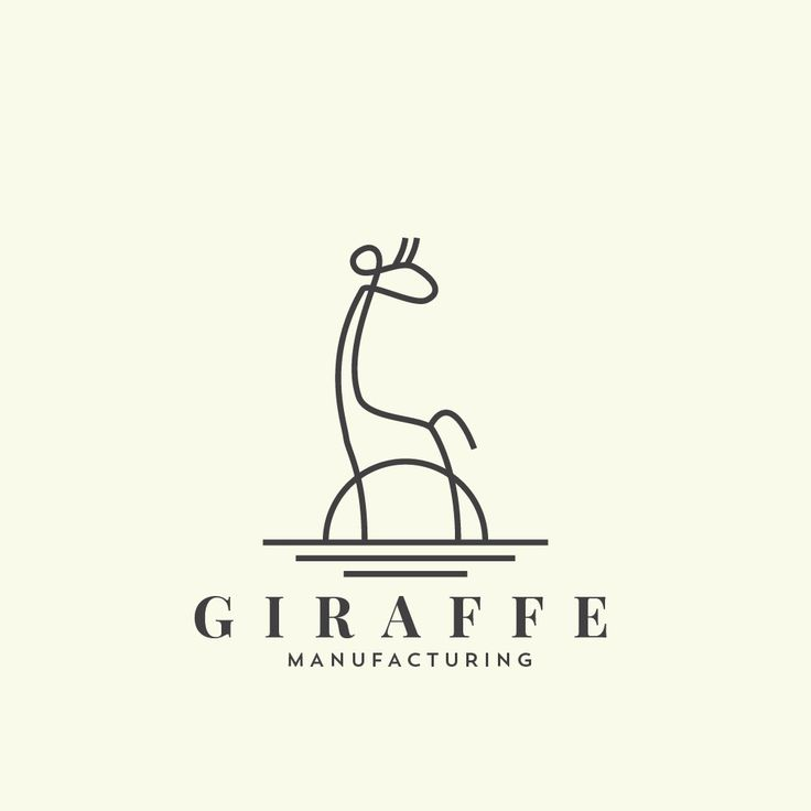 Animal logo by spoonlancer. Minimal linework creates a giraffe doodle. #minimalism #logo #branding
