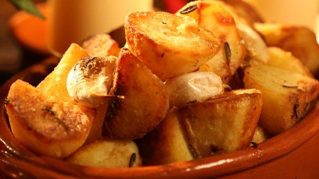Gordon Ramsey's Goose Fat roast potatoes (I've also used duck fat) - YUM.