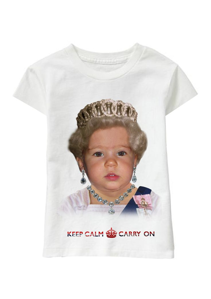 Her Majesty personalized T-shirt www.ghigostyle.com