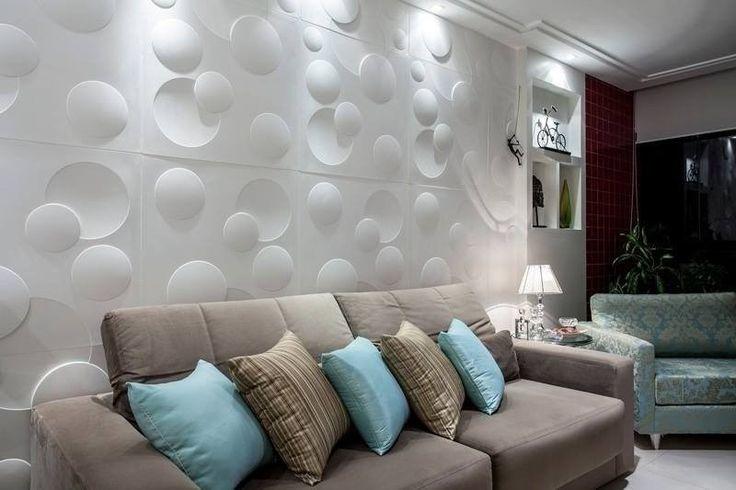 revestimento de gesso 3d interior | Placa Decorativa De Gesso, Flor 3d, Revestimento De Gesso 3d - R$ 8,50 ...