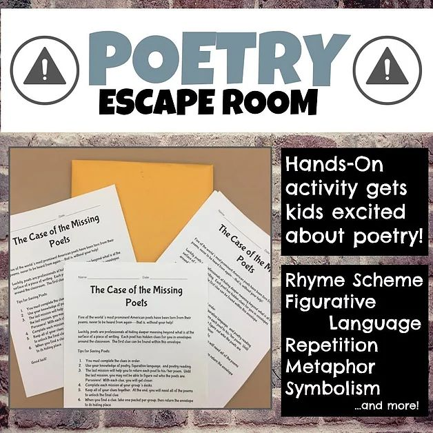An ELA escape room is a great activity to get students working on close reading!