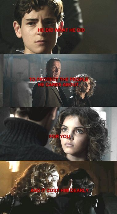 <3 #Bruce #Selina #Alfred #quote #Gotham