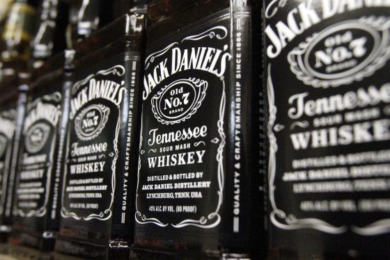 Bottles of Jack Daniel's Tennessee Whiskey at a liquor outlet, in Montpelier, Vt., on Dec. 5, 2011.