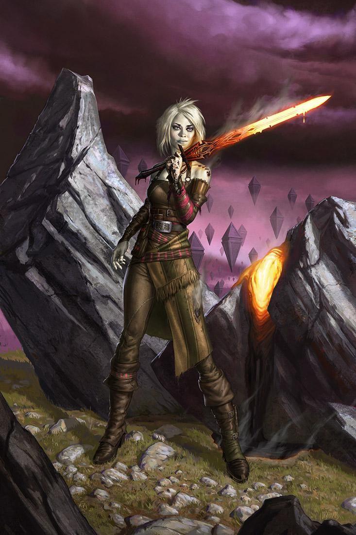Nahiri, the Lithomancer - MtG Art #samsaran #fighter