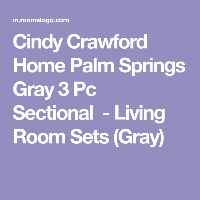 Cindy Crawford Home Palm Springs Gray 3 Pc Sectional-Living Room Sets (Gray)