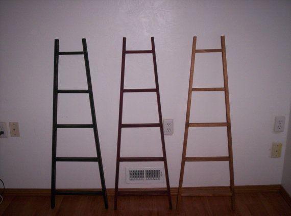 Appy 5 ft Tapered Display & Storage Ladder, Orchard Ladder, Quilt Ladder, Blanket Ladder, Library Ladder, Scarf Ladder, Towel Rack