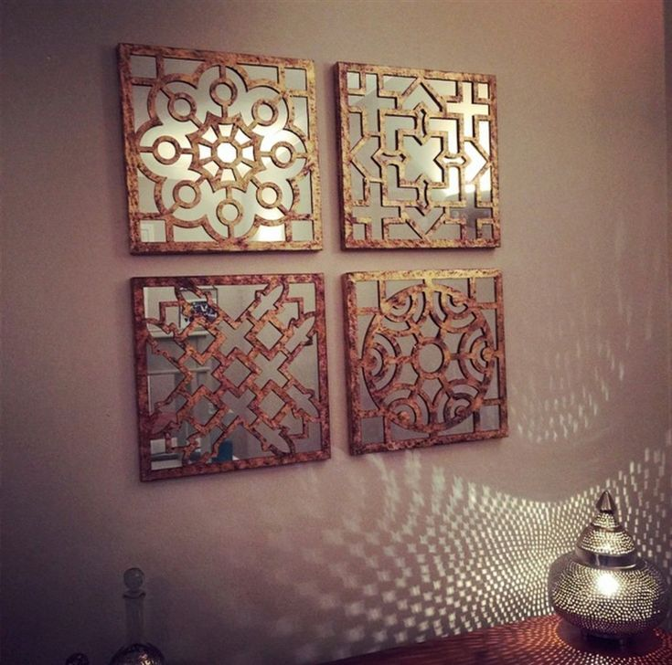 Designcall store bronze sectioned mirror wall art natural