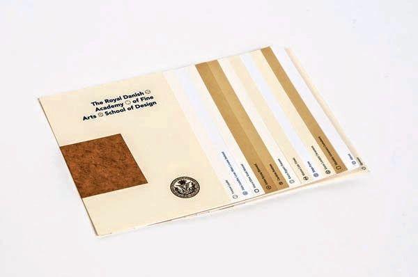 Contoh desain katalog - The 2012 Graduate Show oleh Michael Hansen