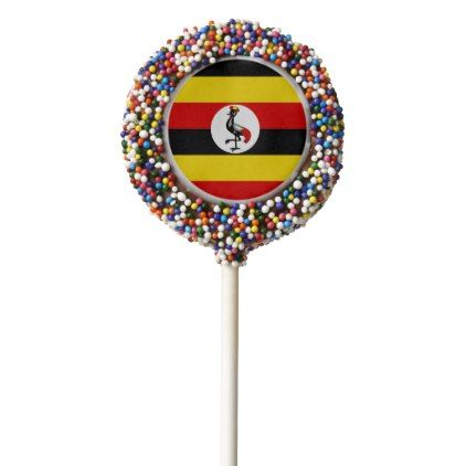 Uganda Flag Chocolate Covered Oreo Pop - kitchen gifts diy ideas decor special unique individual customized