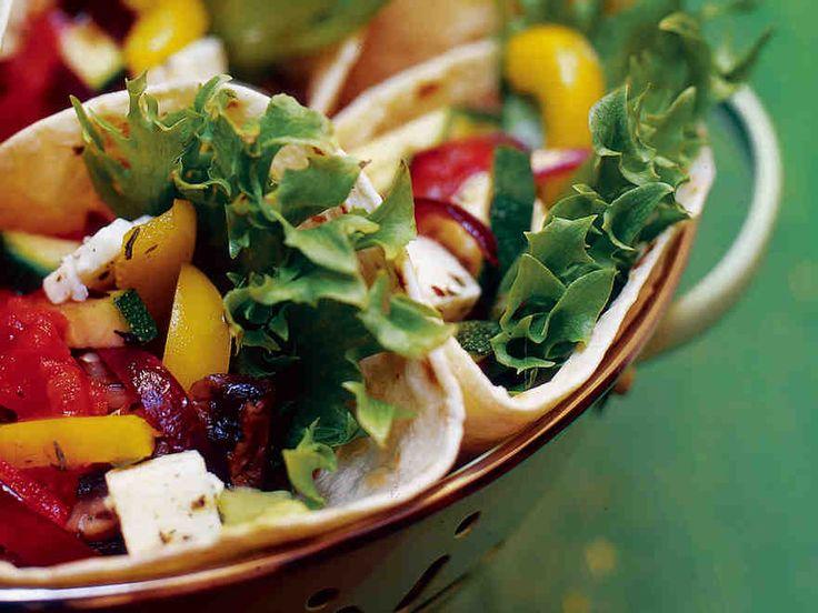 Kreikkalaiset kasviswrapit - Reseptit