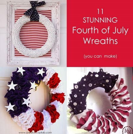 11 Gorgeous 4th of July Wreaths