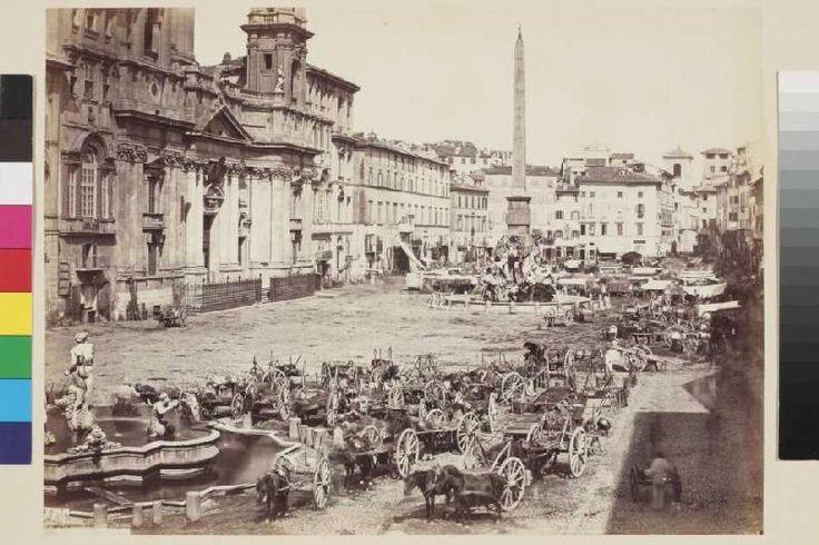 Giorgio Sommer - Markt auf der Piazza Navona in Rom