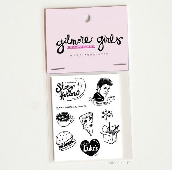 Hey, I found this really awesome Etsy listing at https://www.etsy.com/listing/477652322/gilmore-girls-temporary-tattoos-party