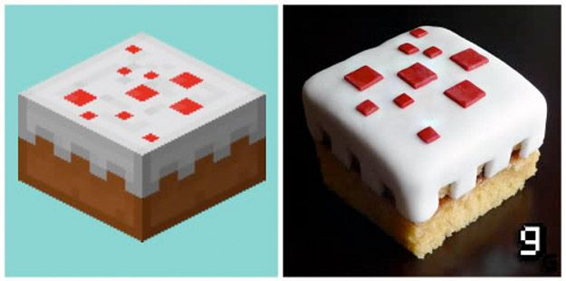 Minecraft Cake | 21 Mouthwatering Video Game Foods In Real Life