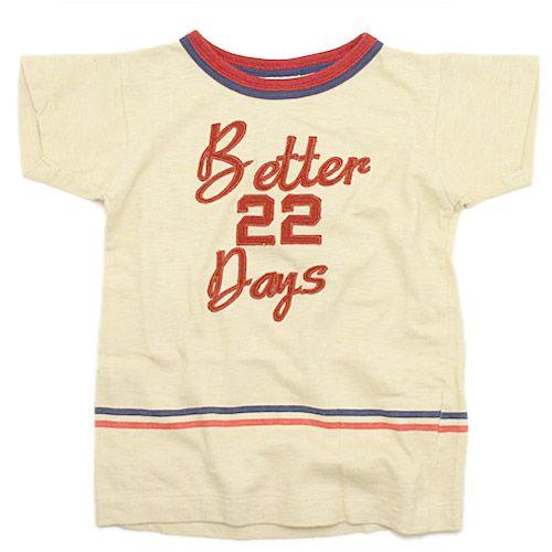 DENIM DUNGAREE(デニム&ダンガリー):天竺 BETTER DAYS Tシャツ 11OW生成 の通販【ブランド子供服のミリバール】