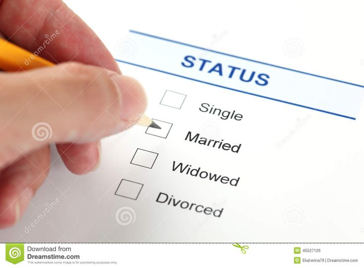 Family Status Form (Marital Status Form) Stock Photo - Image of word, pensil: 45527126