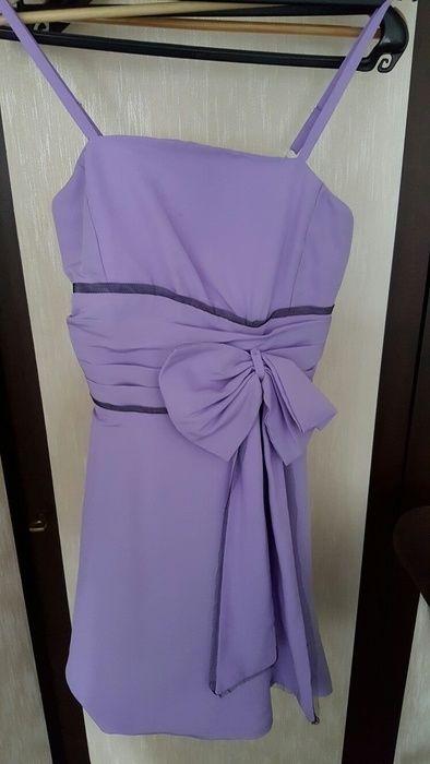 Flieder Kleid maßgeschneidert Gr. 36/38