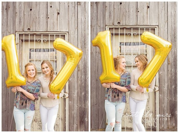 Ideas for girls senior pictures Spokane WA Senior Picture Photographer, Creatively Yours Photography.  Senior Pictures with balloons.  Senior pictures with number balloons.