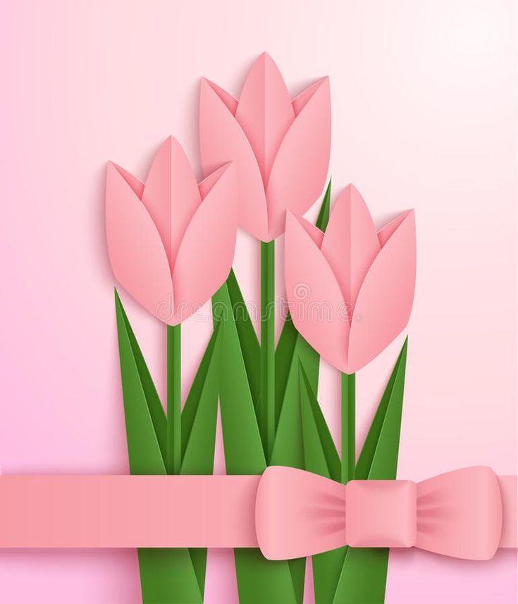 Тюльпаны на открытку своими руками