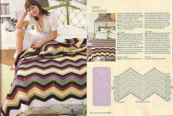 143 best Crochet Ripple Stitch images on Pinterest | Ondulación de ...
