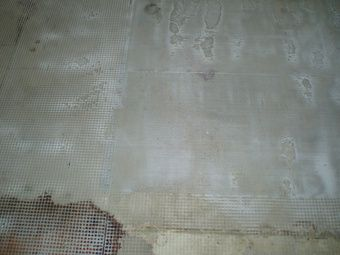 Concrete resurfacing over wood or plywood substrates