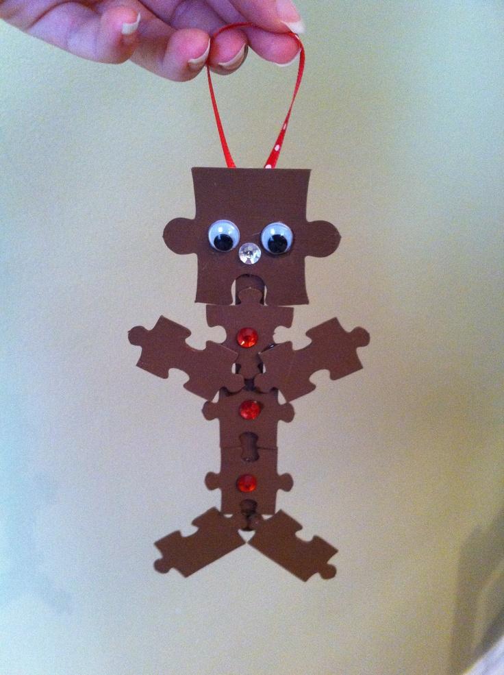 17 Best Images About Puzzle Piece Christmas Ornaments On Pinterest