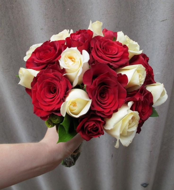 Red White Rose Wedding Bouquet Flowers Of Charlotte Loves This Find Us At