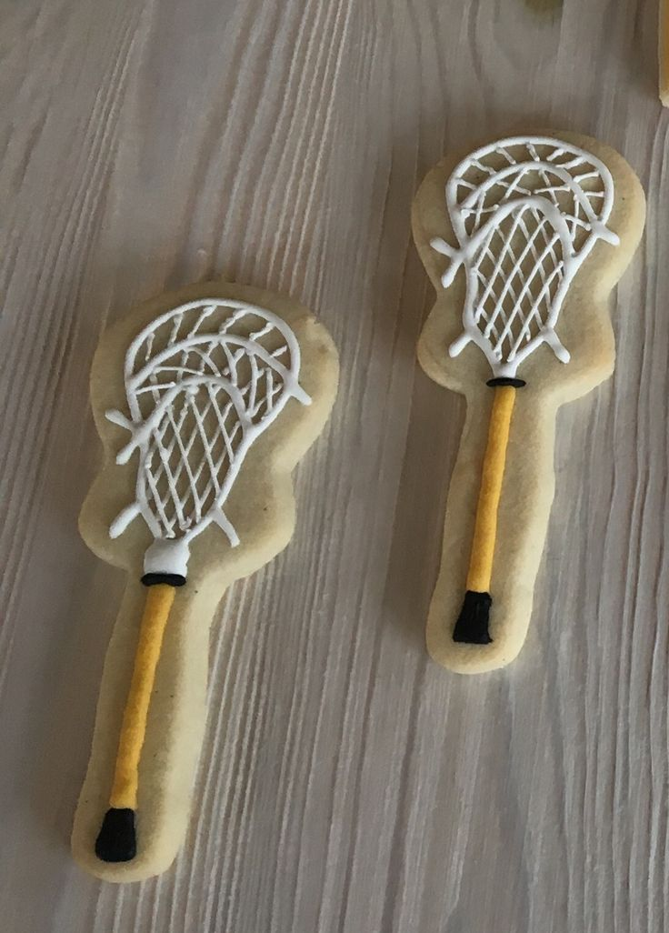 Lacrosse stick cookies by Dyan