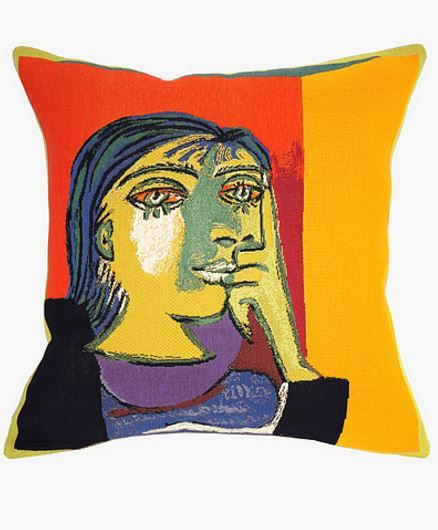 Pillow cover inspired by Picasso's work, made in France. #Picasso