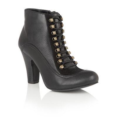 Lotus Black leather 'Randa' ankle boots | Debenhams