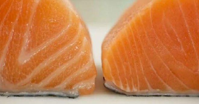 Вот 2 куска лосося. Какой бы выбрали вы? А вот как  их выбирать правильно!
