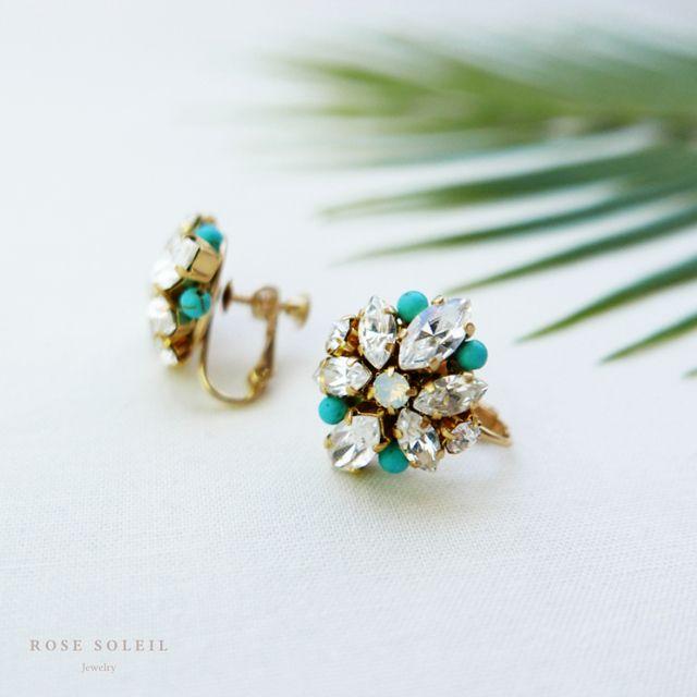Rose Soleil Jewelry Tropical Sky Collection | ローズソレイユジュエリー ✧  クリスタルイヤリング ✧ トロピカルスカイコレクション