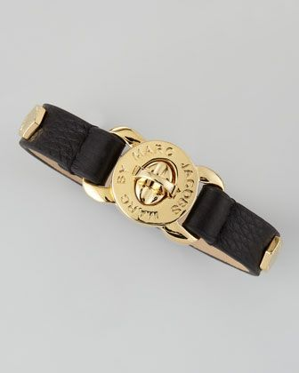 Bolt Studded Leather Bracelet, Black by Marc by Marc Jacobs at Neiman Marcus.