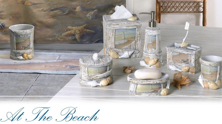 17 best images about beach themed bathroom on pinterest - Beach themed bathroom towel sets ...
