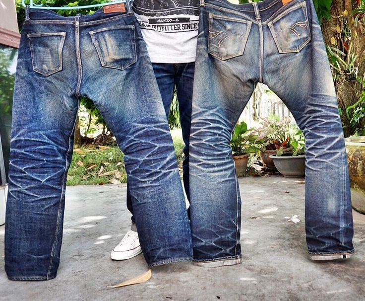 "Reposting @tamzuza: ... ""มันมีเรื่องราวในลวดลาย"" Denim jeans workwear menswear pant selvedge indigo"