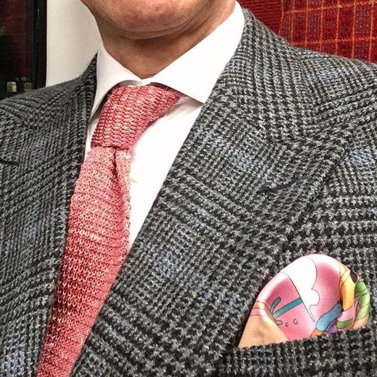 Style aficionado Grey Fox pairing pink & grey at the Golden Shears Awards last night with our DECO ISLAND DUSK silk square... #pocketsquares #pocketsquare #madeinengland #madeinbritain #cravatclub #london #gentleman #menswear #style #mensstyle #mens #dapper #sartorial #sharp #distinguishedgentleman #sprezzatura #mensfashionpost #buybritish #sartorial #mensaccessories #handkerchiefs #silkhandkerchief #goldenshears #goldenshearsawards #greyfox