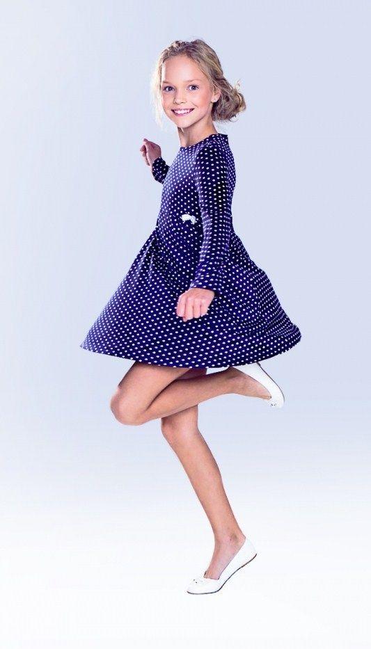 Russian child model Anastasia Klimova.