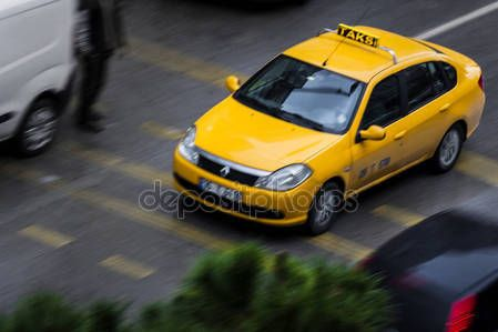 Taxi in the traffic in Izmir (Turkey) – Stock Editorial Photo © carlotoffolo #147737983