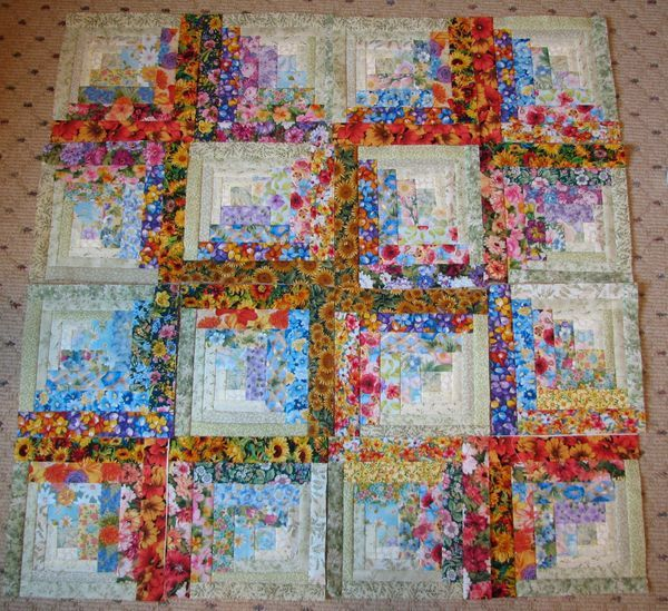 watercolor log cabin blocks...beautiful!!