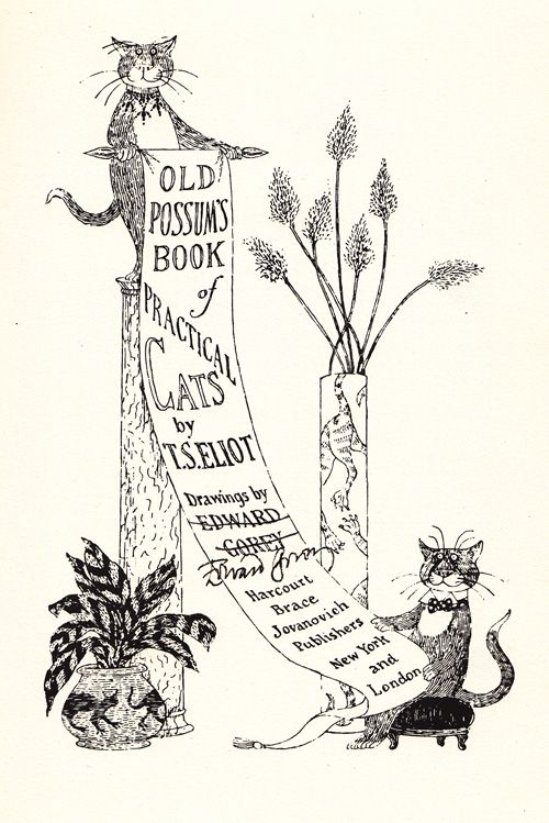 T. S. Eliots Iconic Vintage Verses About Cats, Illustrated and Signed by Edward Gorey   Brain Pickings