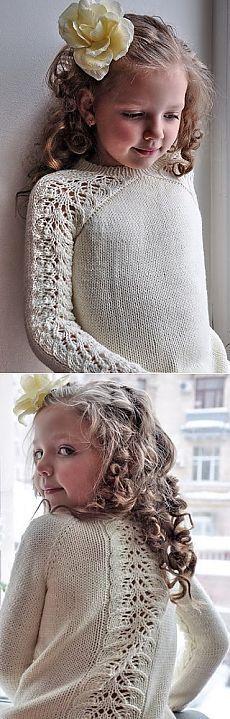 Стильная кофточка для девочки | Вязание для девочек | Вязание спицами и крючком…