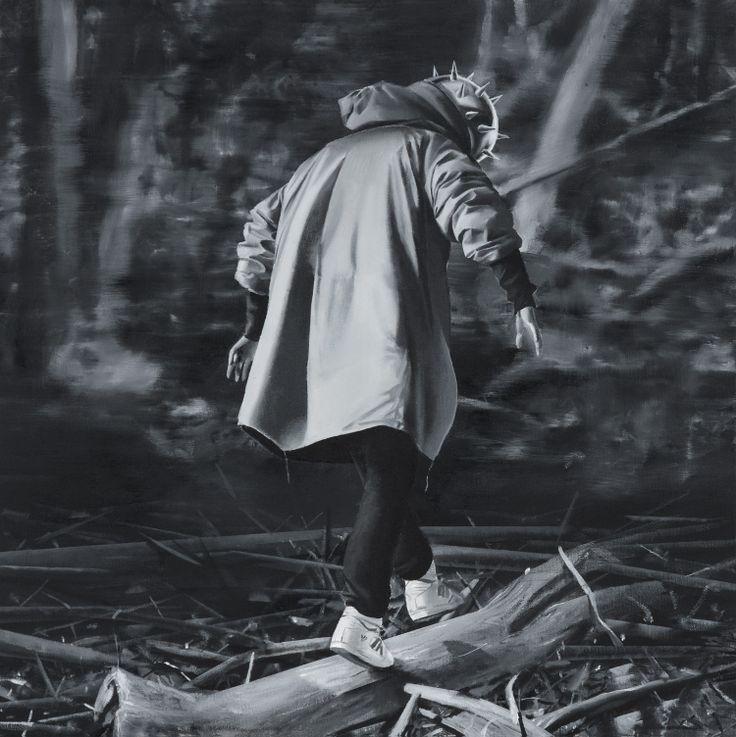 Czarny charakter II, 2013, 50x50, olej, autor: Bartek Buczek autor reprodukcji: Barbara Kubska