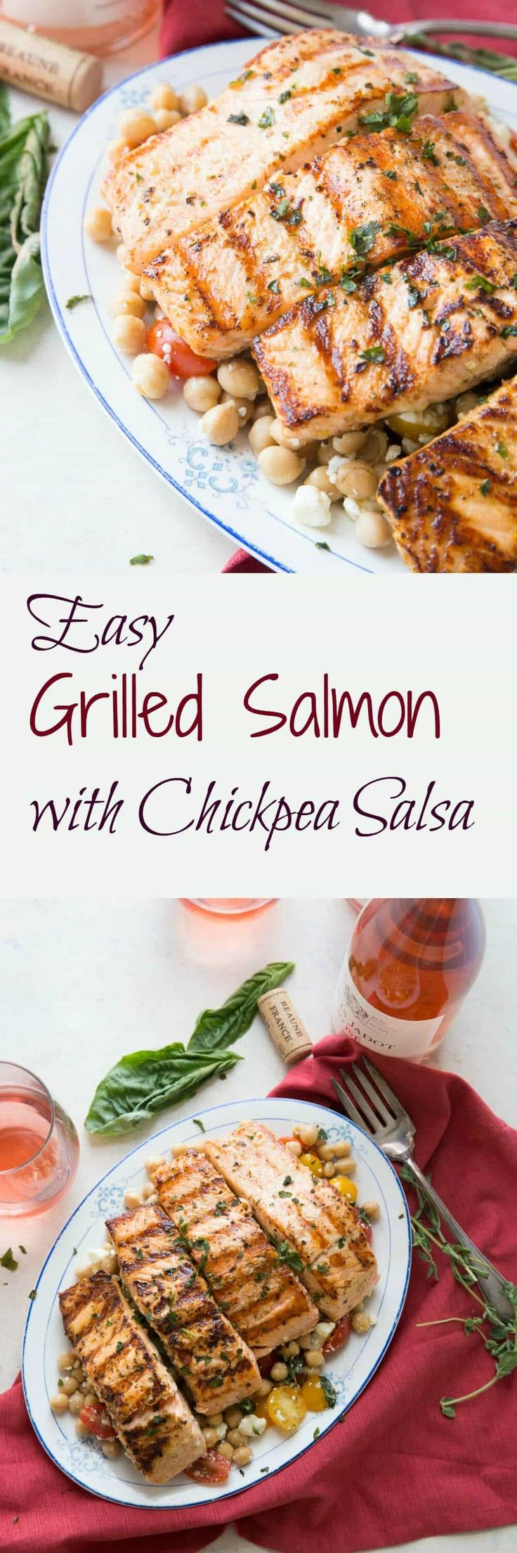 Easy Grilled Salmon Recipe with Chickpea Salsa