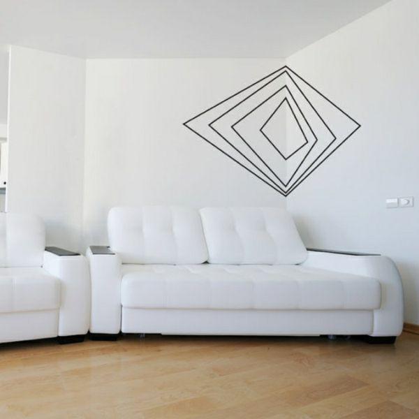 pur weiß Wandgestaltung mit Farbe wandfarben ideen