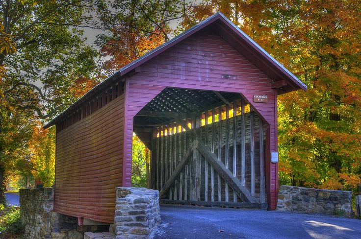 frederick county,md | The Past Roddy Road Covered Bridge-a1 Autumn Frederick County Maryland ...