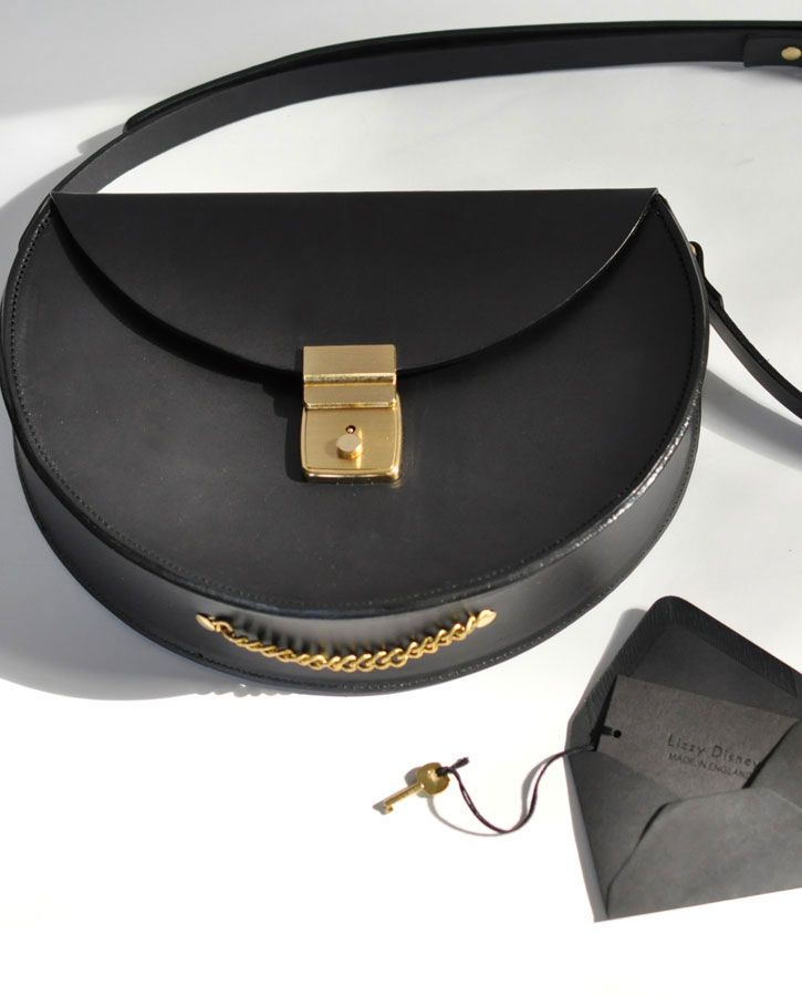 Lizzy Disney Black Lock Bag